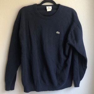 Vintage Navy Lacoste wool sweater
